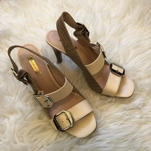 "Louise et Cie ""Khalon"" Buckle Heeled Sandals"